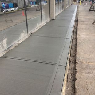 Commercial side walk project