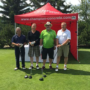 Champion Concrete Cutting Inc. team ready to play
