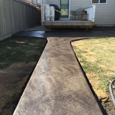 Stamped concrete - Faux stone