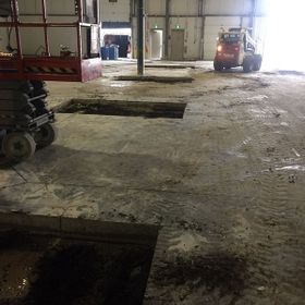 Concrete floor cutting