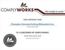 ComplyWorks Certificate