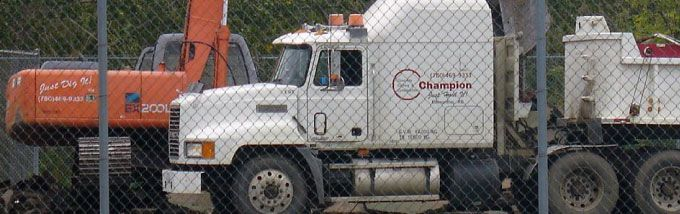 Champion Concrete Cutting Inc. heavy duty vehicles